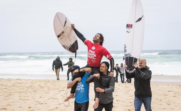 MARCO GIORGI : El surfista de La Paloma le dio a Uruguay su primer triunfo de la historia en el Circuito Mundial de Surf.