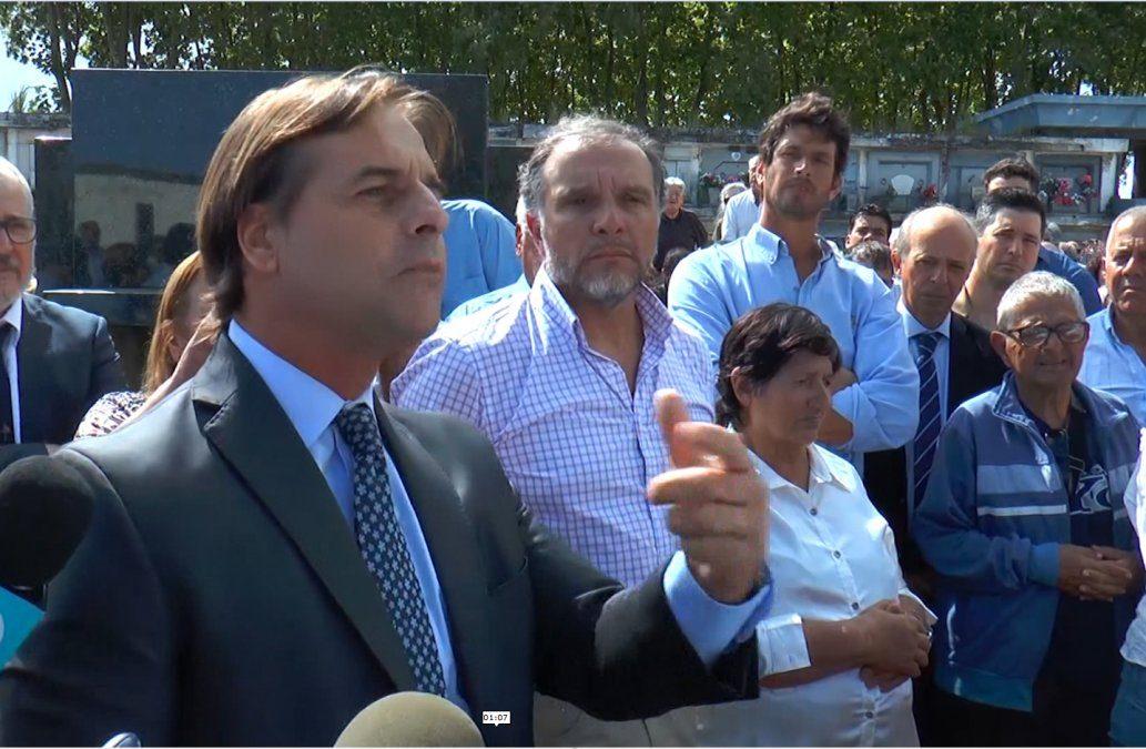 El emotivo discurso con el que Lacalle Pou despidió a Carlos Julio Pereyra